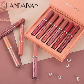 6PCS/Set Matte Liquid Lipstick Set Long Lasting Moisturing Lip Gloss Lipstick Velvet Red Sexy Lip Gloss Women Lip Make-up 1