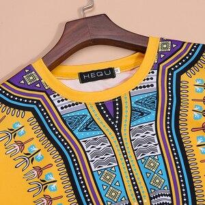 Image 5 - Camiseta Dashiki con estampado de estilo africano para hombre, camiseta de manga corta con cuello redondo, camiseta ajustada informal para Festival, 2020