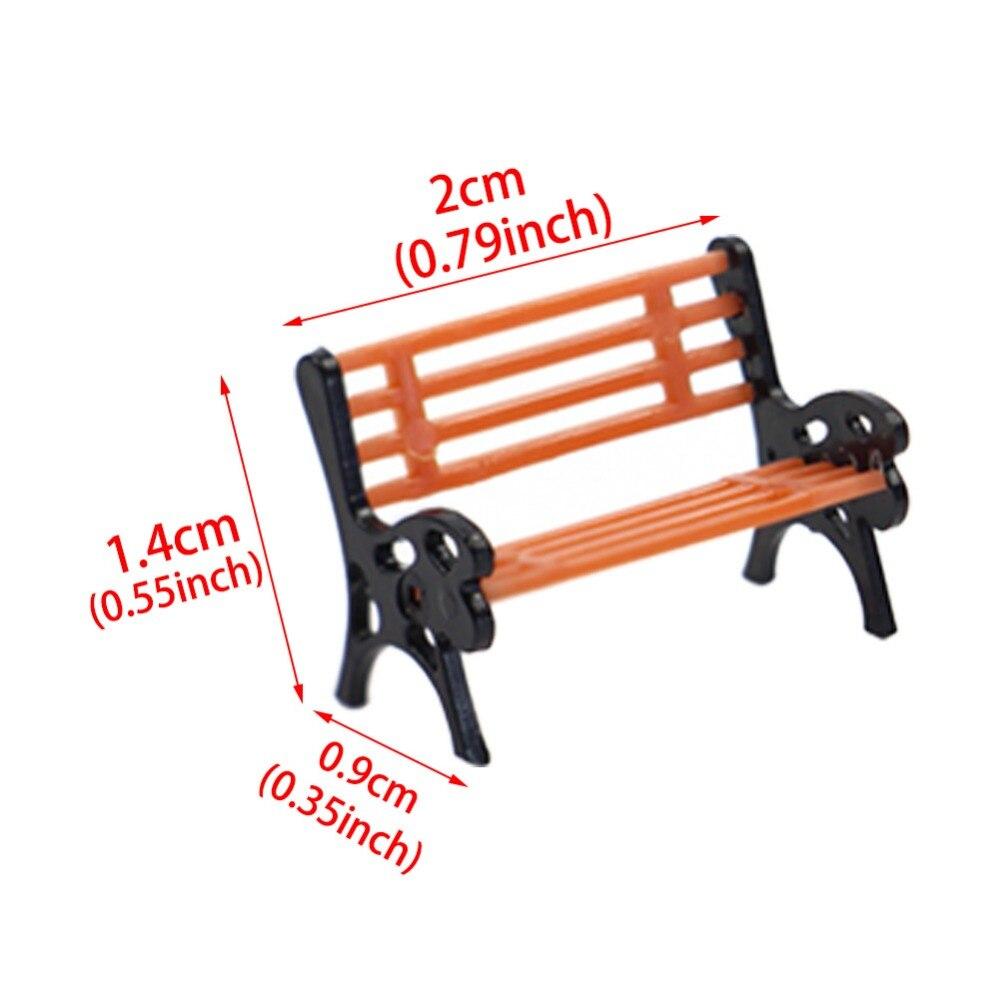 YZ87 10 шт. модель поезд хо масштаб 1: 87 Модель скамейка стул набор для железной дороги диорама