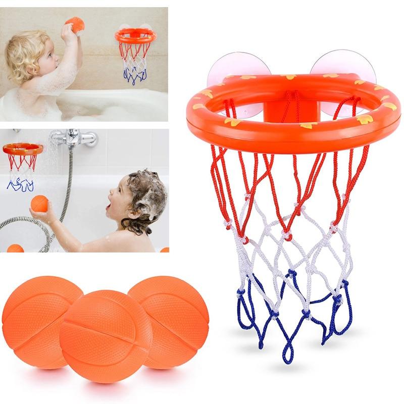 Toddler Bath Toys Kids Shooting Basket Bathtub Water Play Set for Baby Girl Boy with 3 Mini Plastic Basketballs Funny Shower 1