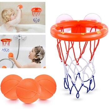 jouet pour le bain 2 ans, panier de basket et ses petites balles