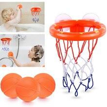 Детские Игрушки для ванны, детская корзина для стрельбы, набор для водных игр для маленьких девочек и мальчиков с 3 мини пластиковыми баскет...