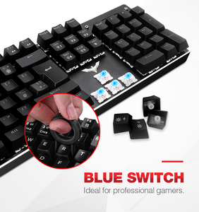 Image 2 - Gaming Mechanical Keyboard 87/104 keys Blue or Red Switch HAVIT Keyboards for Tablet Desktop Russian/US sticker