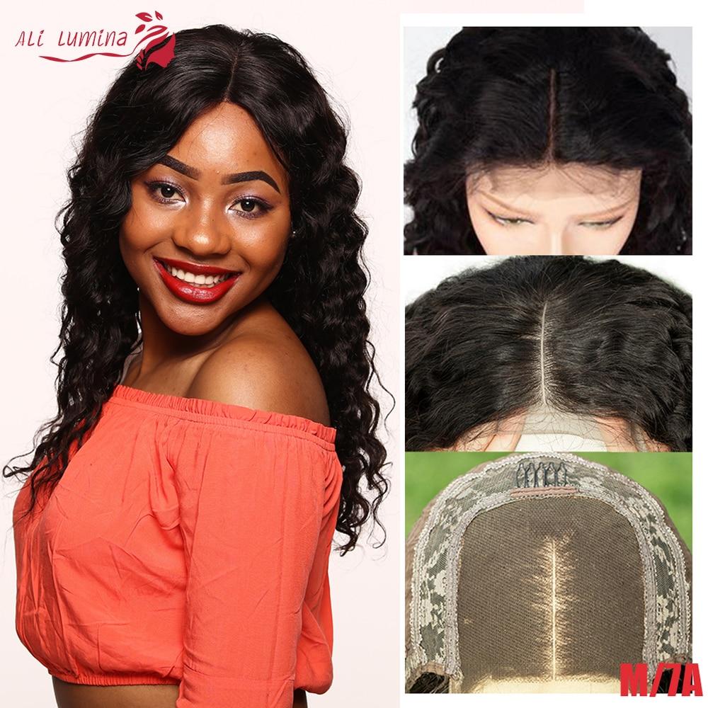 4X4 Deep Wave Lace Closure Wig Malaysian Human Hair Wigs With Lace Closure 180% Remy 4*4 Closure Wig Pre Plucked With Baby Hair