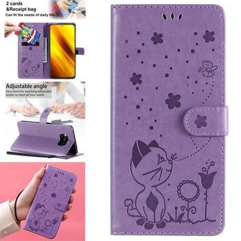 Cubiertas de teléfonos inteligentes para Xiaomi Pocophone F1, funda colorida de cuero PU con tapa para libro, funda para Ajax, capa Poco X3, NFC, Capa Xiao mi