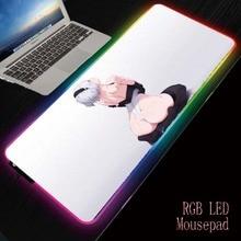 MRGBEST РГБ аниме сексуальная девушка игровой коврик красочный с подсветкой Маус коврик большой для мыши-Коврик для клавиатуры стол водить матрас для взрослых