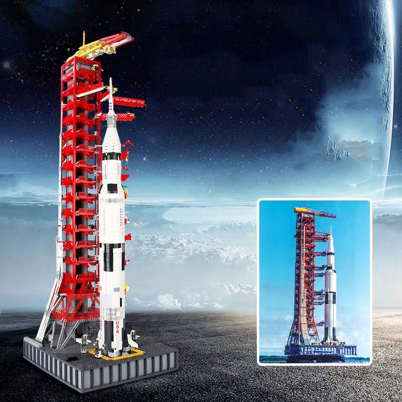 IN STOCK 3073PCS Space Series Apollo Saturn V Launch Umbilical Tower MOC Technic Building Blocks Bricks Gift Toys For Kid
