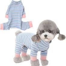 Полосками Одежда для собак кошек комбинезон с длинными рукавами