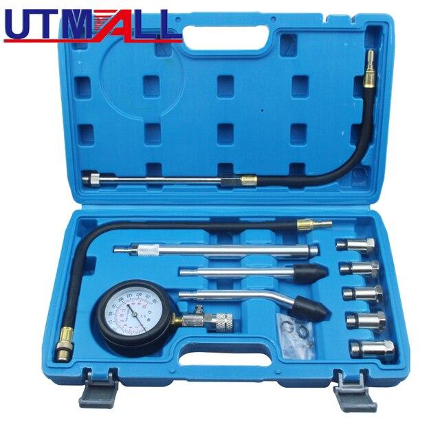 Novo medidor de compressão de pressão e cilindro de motor a gás conectado, medidor de medidor de compressão, testador de vazamento, diagnóstico