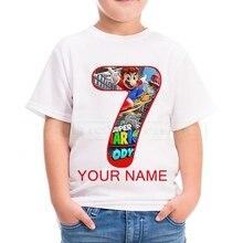 2020  Kids Pure cotton  Mario T-shirts Costume Boys Girls Summer Tees Top Clothing Children Clothes Baby Casual Tshirt 4-12T фотообои тамитекс розовый вечер