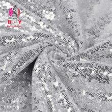 2 ярда блестящая ткань с вышивкой и блестками серебристая используемая
