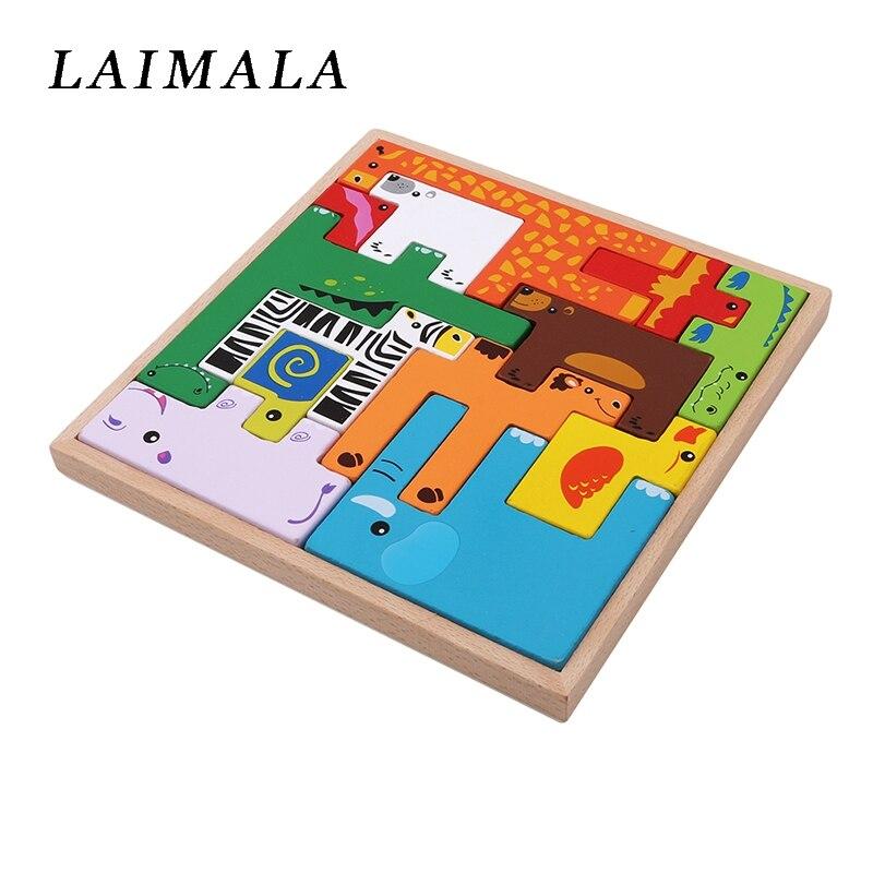 quebra-cabeças de madeira brinquedos para crianças inteligência