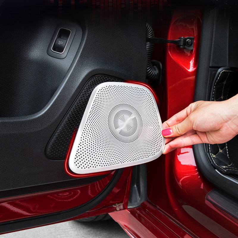 For Mercedes Benz A Class W177 V177 A180 A250 Car Styling Interior Door Speaker Cover Audio Stereo Protection Sticker 3 Opitions