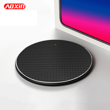 AOXIN 10W Qi Fast Wireless Charger For iPhone Xs Max 8 Samsung S9 S10 Plus Note 10 Wireless Charging Phone Charger 9V 5V 2A