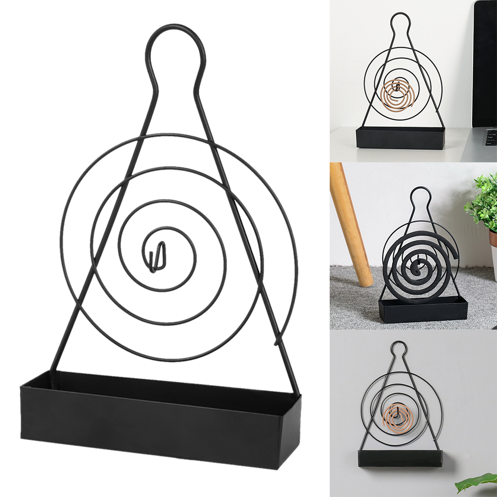 Living Room Sandalwood Anti Slip Burner Incense Mosquito Coil Holder Heat Resistant Iron Art Portable Bedroom Home Decoration(China)