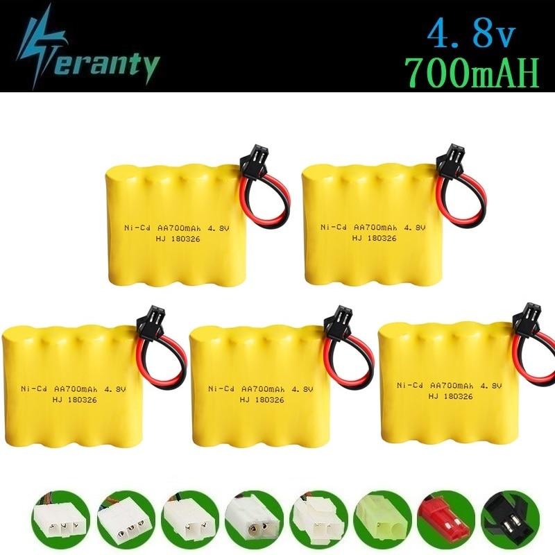 4.8v Rechargeable Battery For Rc Toys Cars Tanks Robots Gun Rc Boat 700mah Ni-cd Battery AA 4.8v 700mah Batteries Pack 1-10PCS