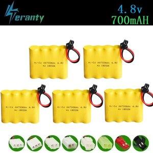 4.8v Rechargeable Battery For Rc toys Cars Tanks Robots Gun Rc Boat 700mah Ni-cd Battery AA 4.8v 700mah Batteries Pack 1-10PCS(China)