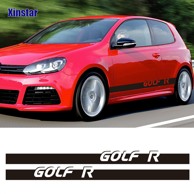2pcs MK6 MK7 MK4 MK5 <font><b>MK3</b></font> car side body decoration <font><b>sticker</b></font> For VK Volkswagen <font><b>GOLF</b></font> R GOLF6 GOLF7 GOLF3 GOLF4 GOLF5 image