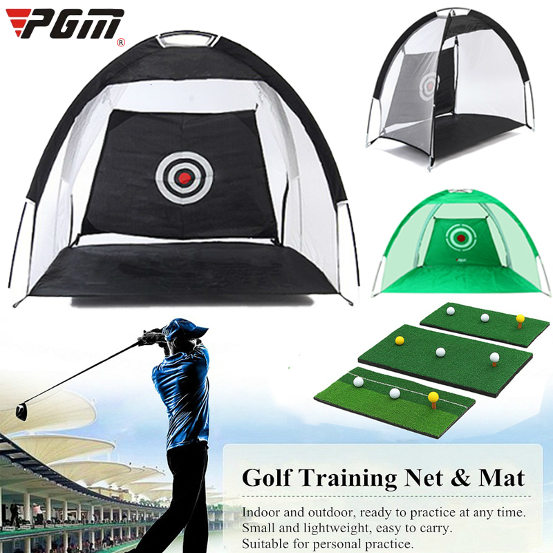 PGM Indoor Outdoor Foldable Golf Practice Net Golf Hitting Cage Garden Grassland Practice Tent Golf Training Equipment