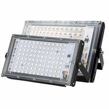 Reflektory Led AC220V zewnętrzny projektor oświetleniowy reflektor IP65 wodoodporna 30W 50W 100W LED lampa uliczna światło krajobrazu tanie tanio CN (pochodzenie) ROHS Aluminium Nikiel szczotkowany 220 v