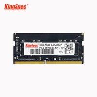 Top KingSpec memoria ram ddr4 4GB 8GB 16GB 2400MHz RAM 노트북 용 노트북 메모리 RAM DDR4 1.2V 노트북 RAM