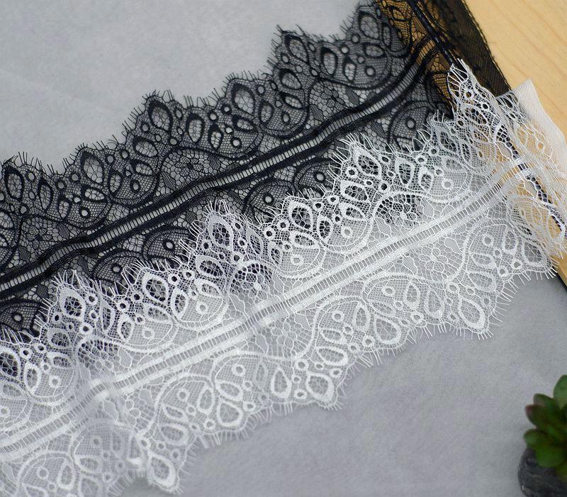6 м/лот качественная черная белая фотоширина 14 см ручная работа «сделай сам», аксессуары для одежды, материал для занавески платья
