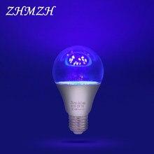 E27 LED UVA Sterilizing Lamp Bulb AC110-220V Ozone Free UV Desinfection Lamp Ultraviolet LED Light 5W 7W Germicidal Lamp