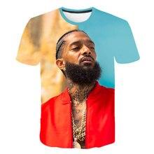 Hot Rapper nipsey hussle Print Short T shirt Boy Girls Harajuku Hip Hop Sleeve Cool streetwear Kids