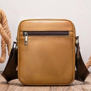Image 5 - VICUNA POLO bolso de hombro de piel auténtica para hombre, Estilo Vintage bandolera, informal, promocional