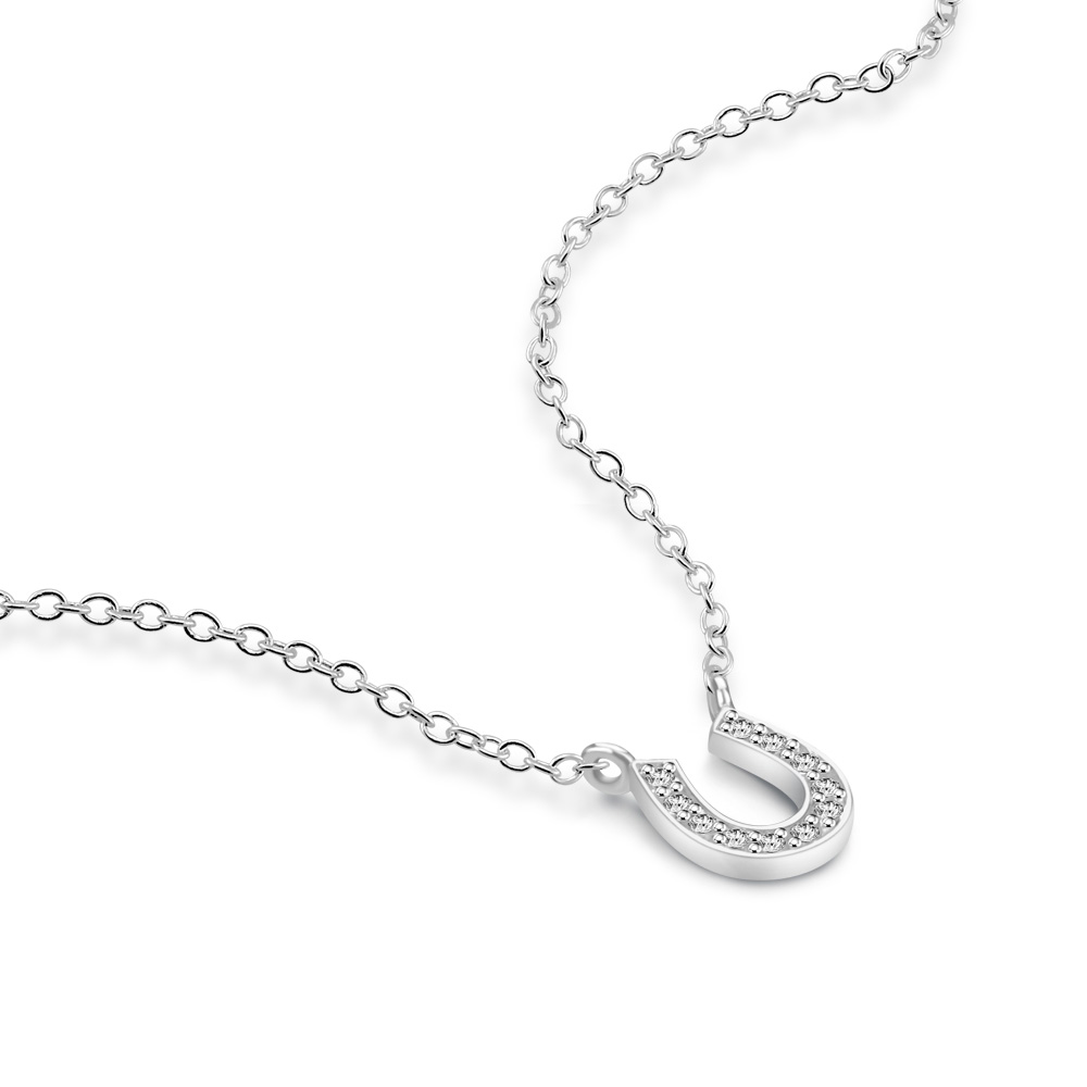 Simple Style Pure 925 Sterling Silver And Rose Gold Necklace Girl Jewelry U Letter Pendant Gold And Necklace Popular Bijoux Chain Necklaces Aliexpress