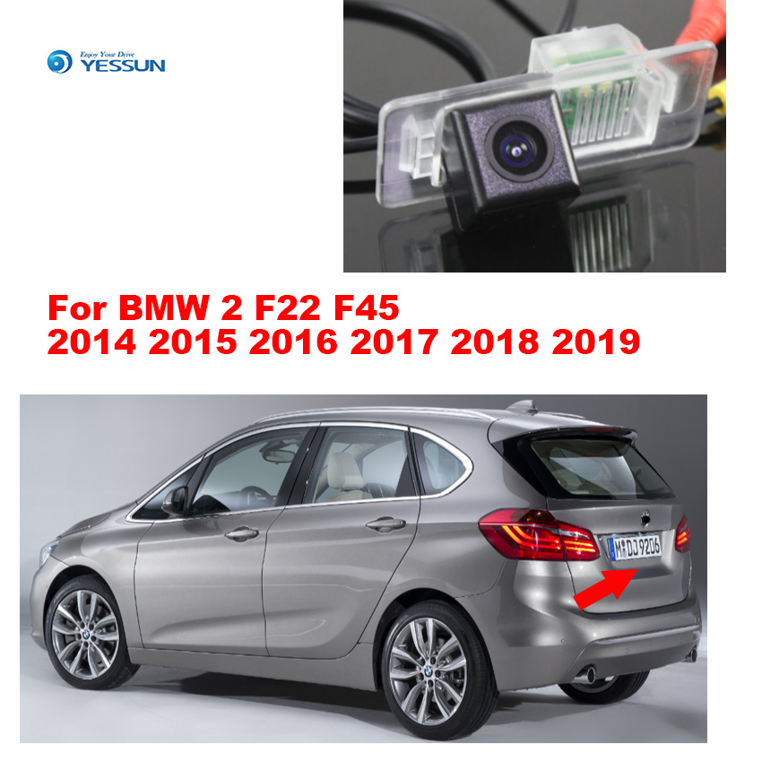 For BMW 2 F22 F45 2014 2015 2016 2017 2018 2019 High Quality Car Rear View Back Up Camera CCD With RCA+Night Vision