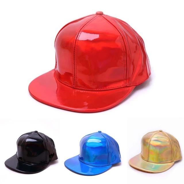 man Women Baseball Solid Color Fluorescence Flat-brimmed Hat Hip-hop Hat Youth Boys Girls Snapback Hip Hop Flat Cappello