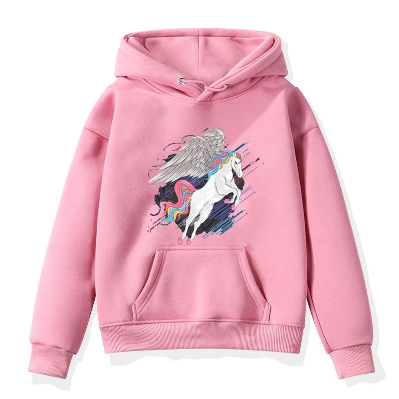 Hoodies Baby Sweater Unicorn Long-Sleeve Toddler Boys Winter Fashion Children Warm Print title=