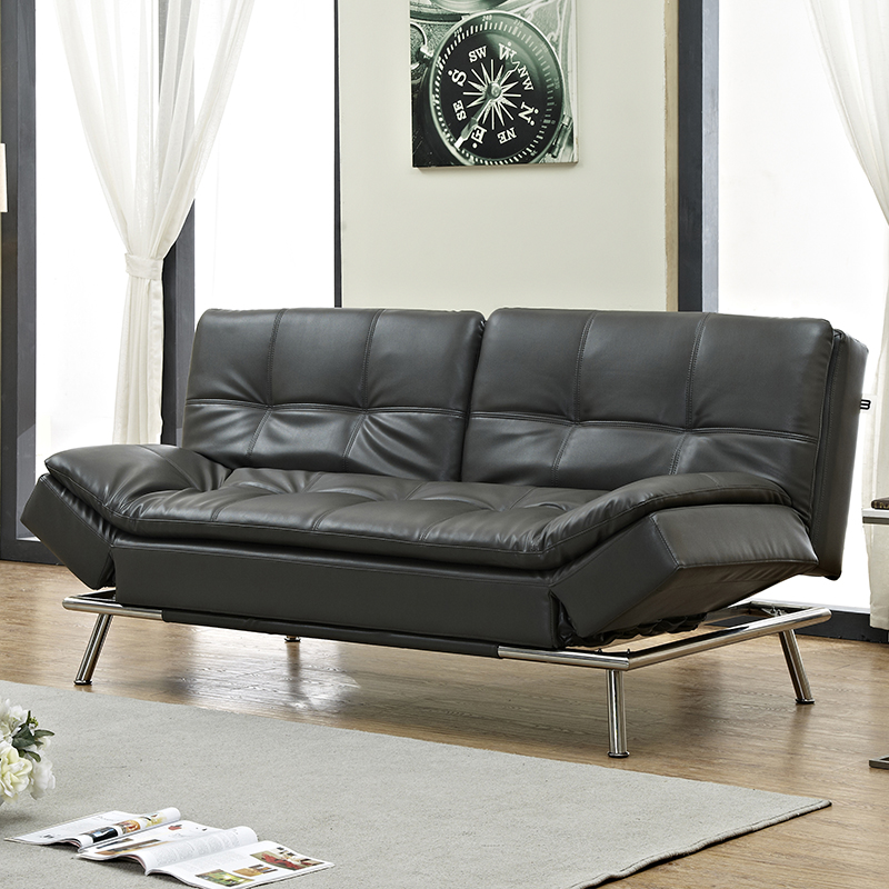 Leather Art Sofa Backrest Folds Down Separately Sofa Bed