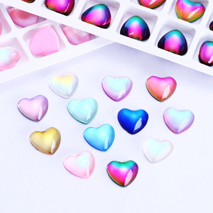 10pcs Heart Rhinestone Best Glass Crystal AB Sew On Stones Spacer buttons for Garment Jewelry Top Quality Crystal кристалл 수정(China)