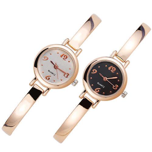 Elegante Frauen Uhren frauen Armband Quarz Handgelenk Uhren Legierung Analog Armbanduhr Armreif Armband Armbanduhr Geschenke Für Freund