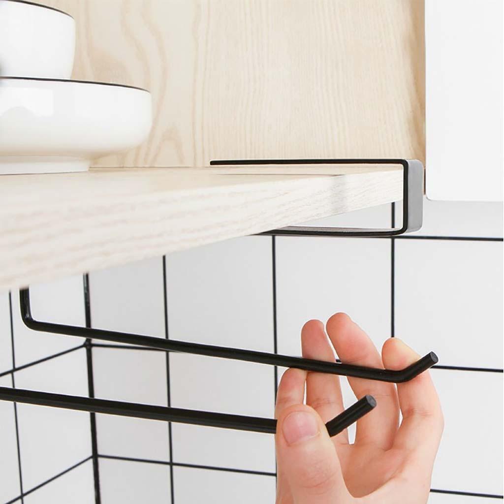 Accessories shelf under cabinet paper roll rack towel holder tissue hanger XS