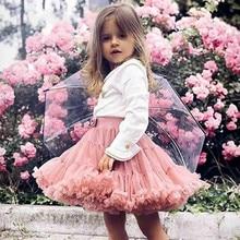 Tutu-Skirt Tulle Layer Ballerina Girls Fluffy Princess-Girl Children Dance for Party