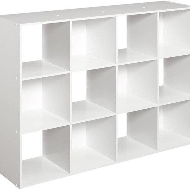 12 Cubes Wooden Bookcase Organizer 5