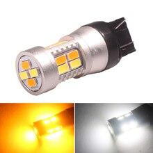 Turn-Signal-Lights 7443 5630 20-Smd-Bulb Dual-Color White W21/5W DRL 1pcs Car Led NHAUTP