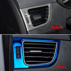 Image 5 - 2Pcs Blue ABS Car Dashboard Air Conditioning Vent Outlet Decoration Trim Fit for Hyundai Elantra 2011 2012 2013 2014 2015 2016