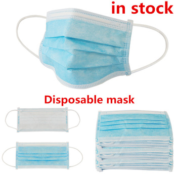 10/50pcs Disposable Mask Anti Dust Mask Activated Carbon Filter Windproof Mouth-Muffle Bacteria Proof Flu Face Masks Care