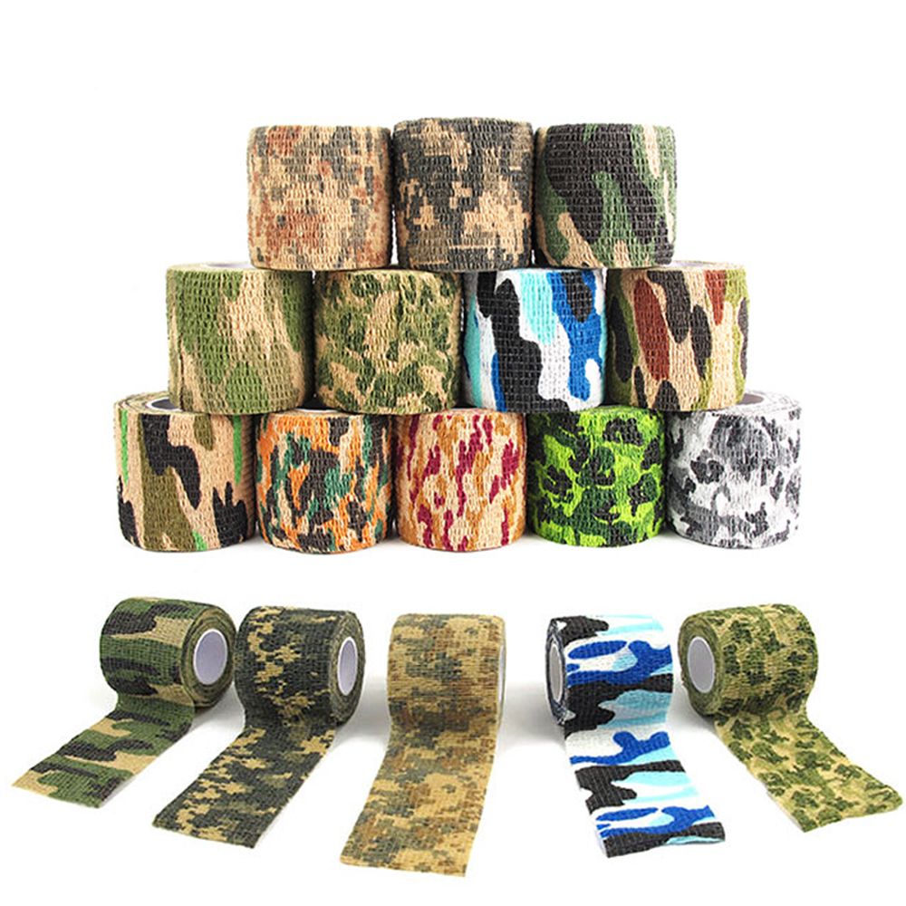 Bicycle <font><b>Sticker</b></font> Protect Frame <font><b>Sticker</b></font> Handlebar Tape For <font><b>bike</b></font> Non-slip Self-adhesive Retractable Multifunctional <font><b>Camouflage</b></font> Tape image