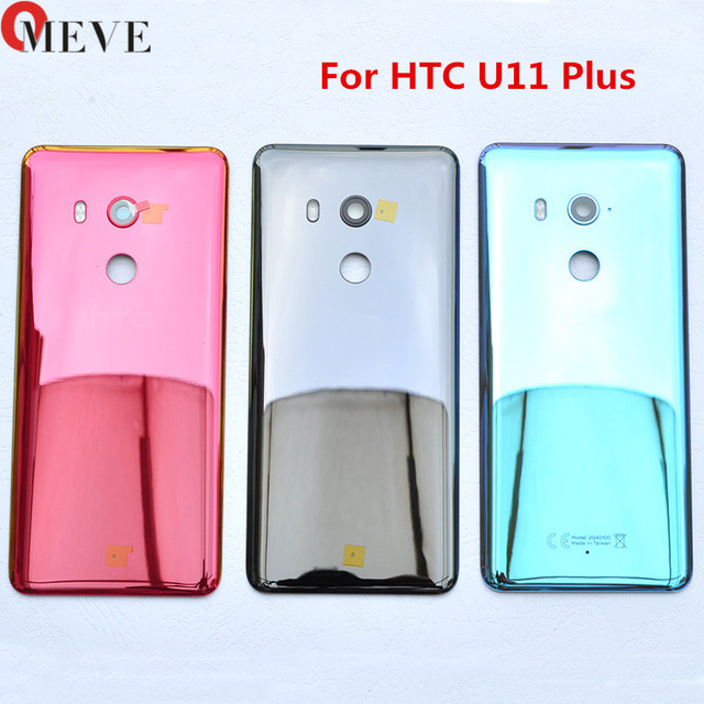 Original For HTC U11 Plus Back Battery Cover 2Q4D200 Rear Glass Door Housing Case For HTC U11 Plus Cover+Camera Lens Replacement