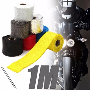 Treyues 1PC 1M Roll Car Motorcycle Exhaust Header Pipe Insulation Heat Wrap Tape 8Colors For Moto Vehicle Truck(China)