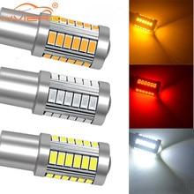Bombilla Led trasera para coche, luz de freno, intermitente, intermitente, DRL, blanco, rojo, 1156 BA15S 1157 BAY15D P21 5W