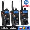 3/4 단위 8W Baofeng UV-5R 워키 토키 UV5R 듀얼 밴드 FM 송수신기 UV 5R 아마추어 10KM 사냥 햄 라디오 송신기 인터폰