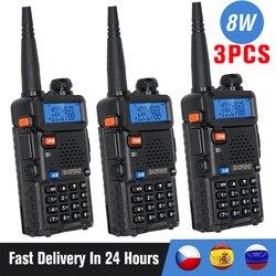 Рация Baofeng UV-5R Talkie UV5R, 3/4 шт., 8 Вт, двухдиапазонный FM-приемопередатчик UV 5R, Любительская, 10 км, для охоты, Любительский радиопередатчик, внутрен...