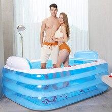 Portable Adult Thick Inflatable Bathtub Folding Bathtub Household Bathing Bathtub Children Bathing Bathtub Bathtub