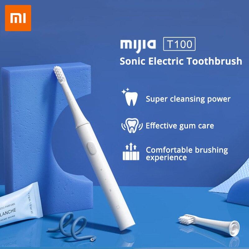 xiaomi mijia sonica escova de dentes eletrica t100 ultra sonica escova de dentes automatica usb recarregavel